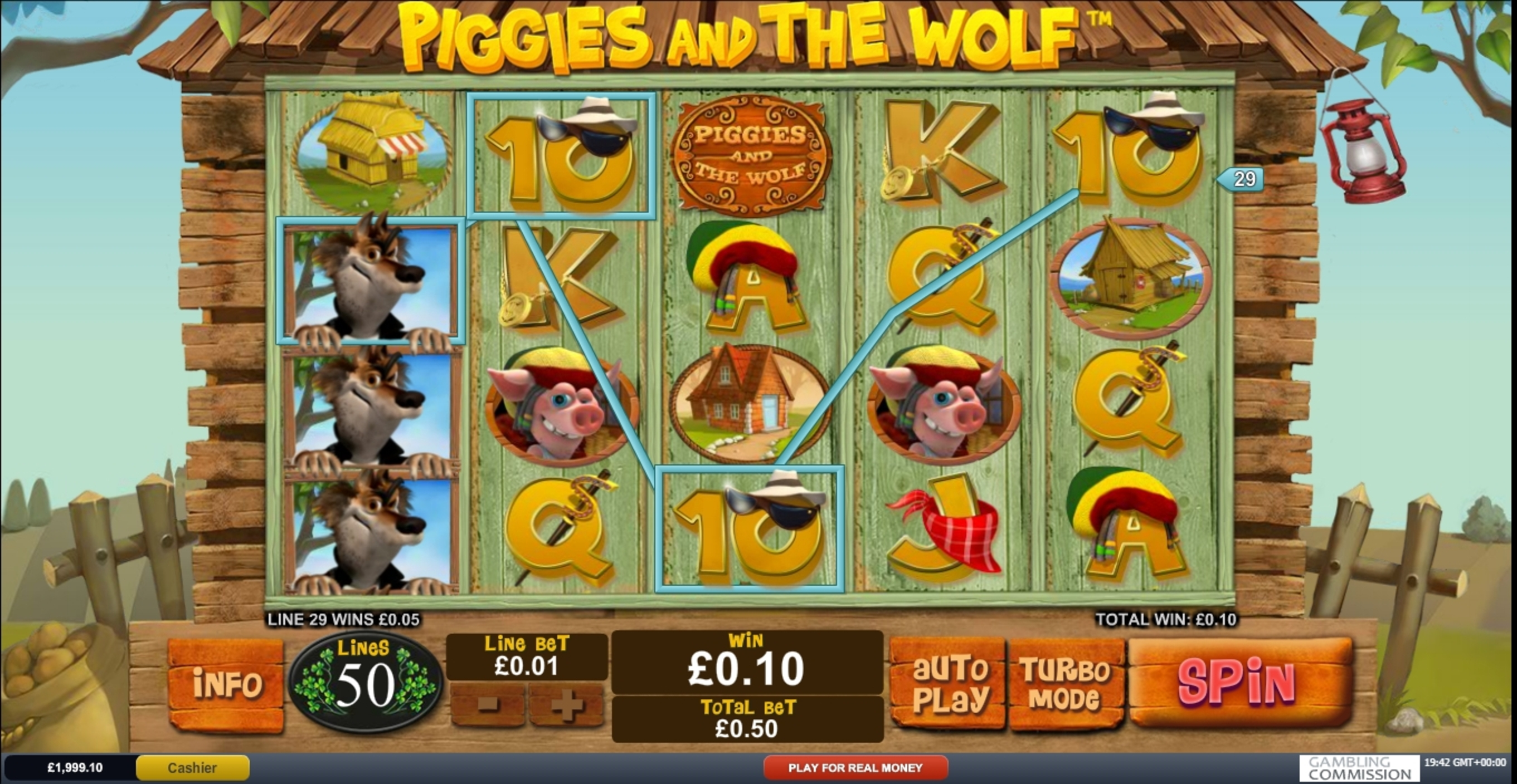 Win Money in Piggies and The Wolf Free Slot Game by Playtech