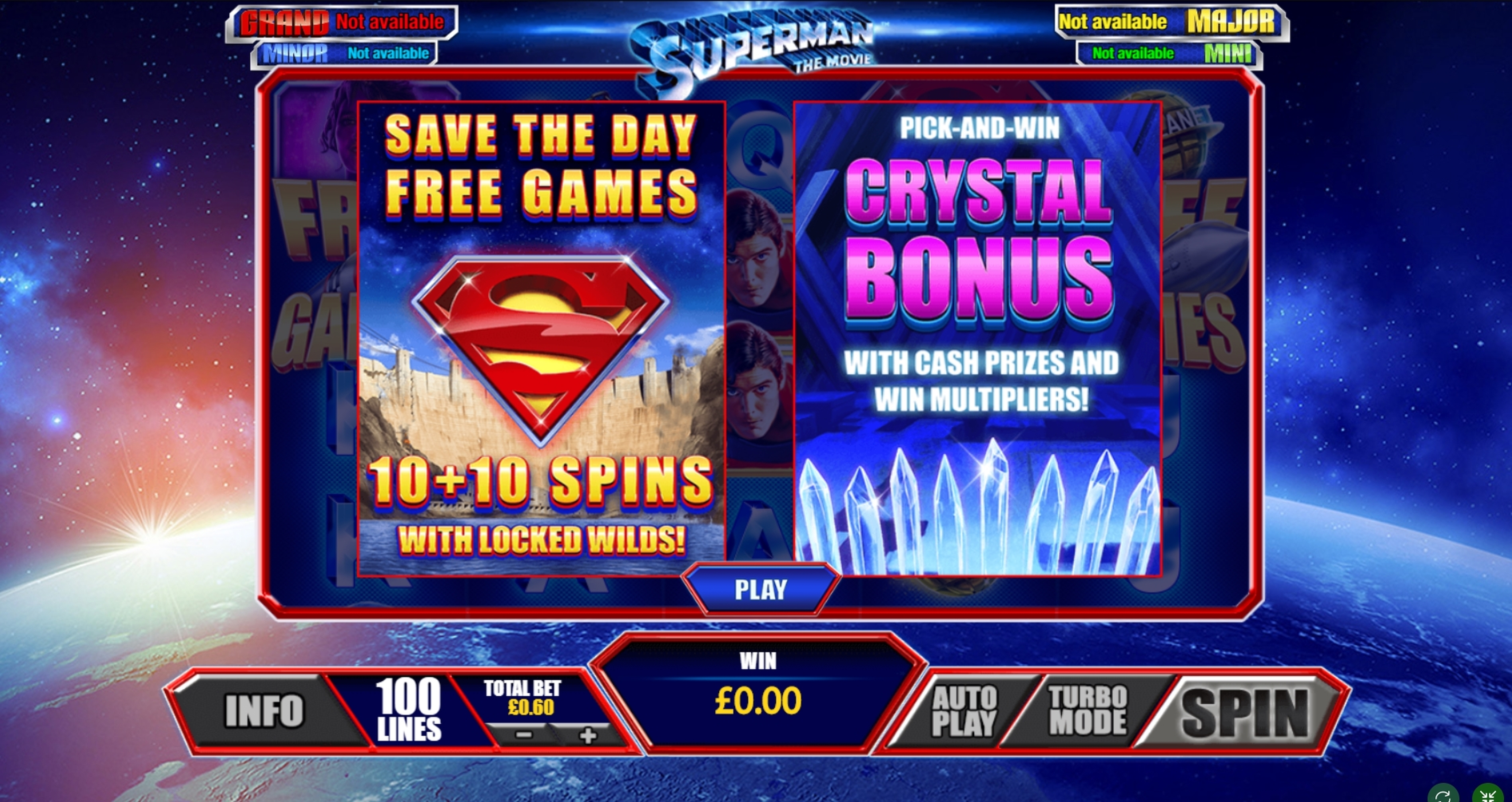 Play Superman The Movie Free Casino Slot Game by Playtech