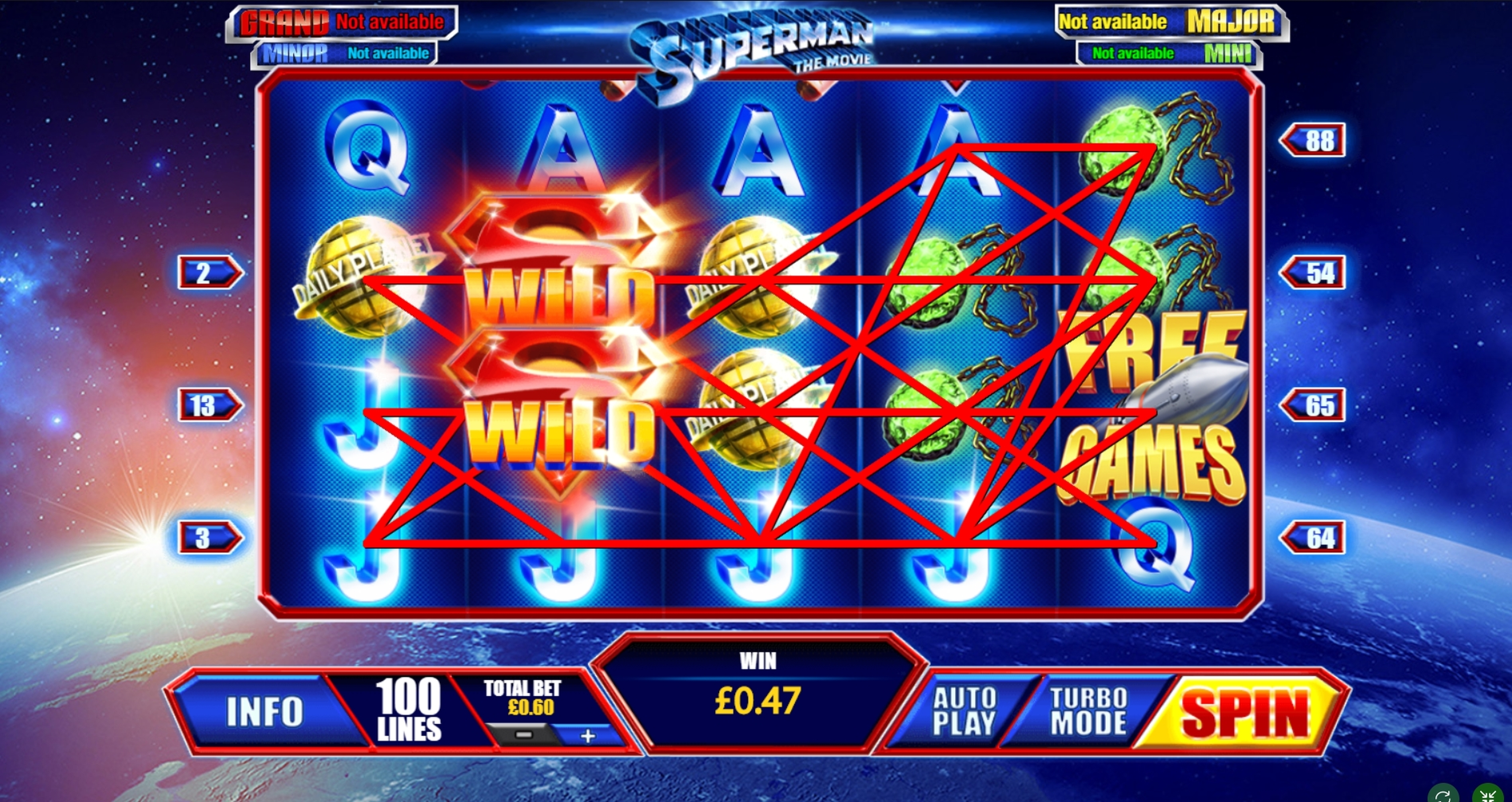 Win Money in Superman The Movie Free Slot Game by Playtech