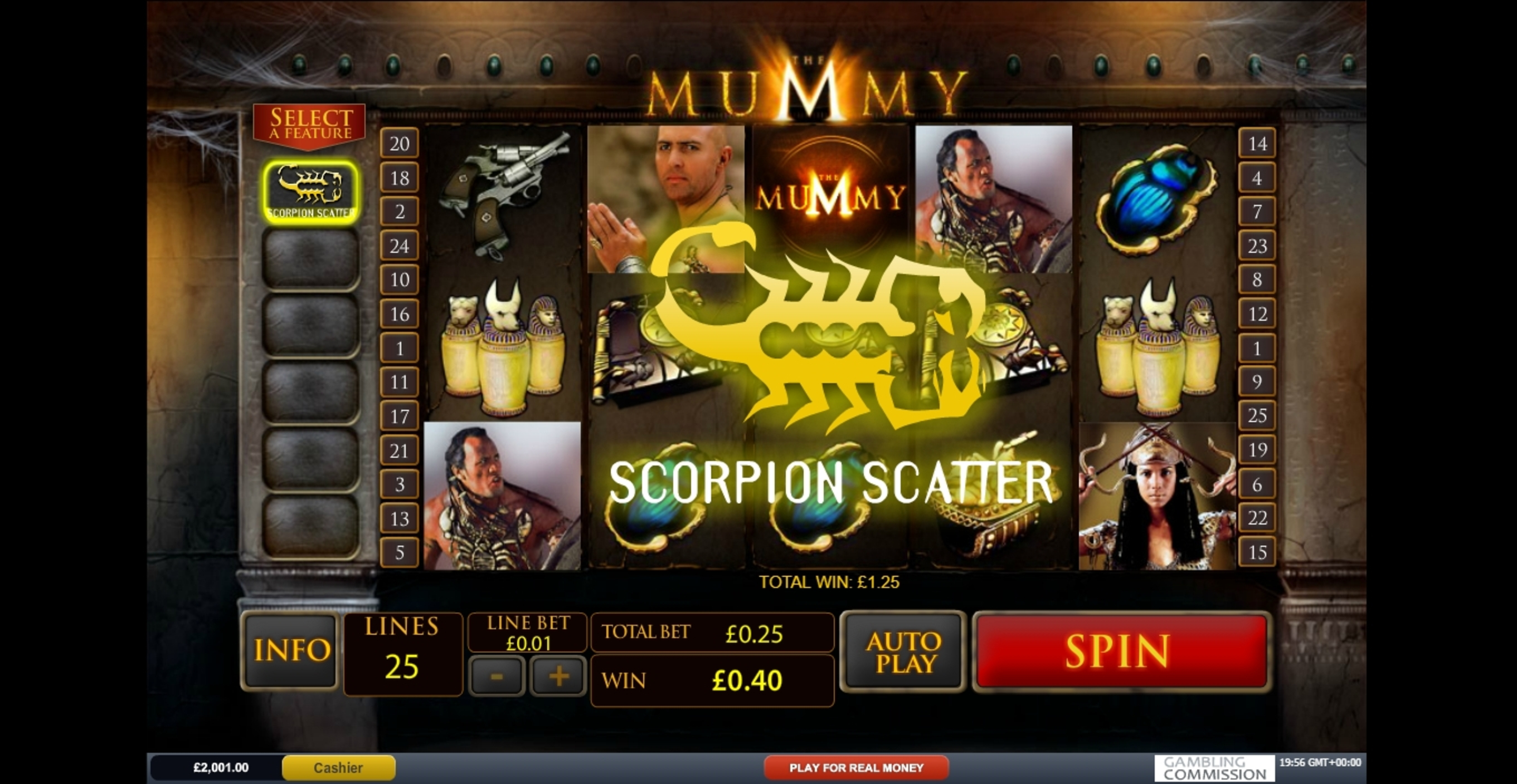 Win Money in The Mummy Free Slot Game by Playtech