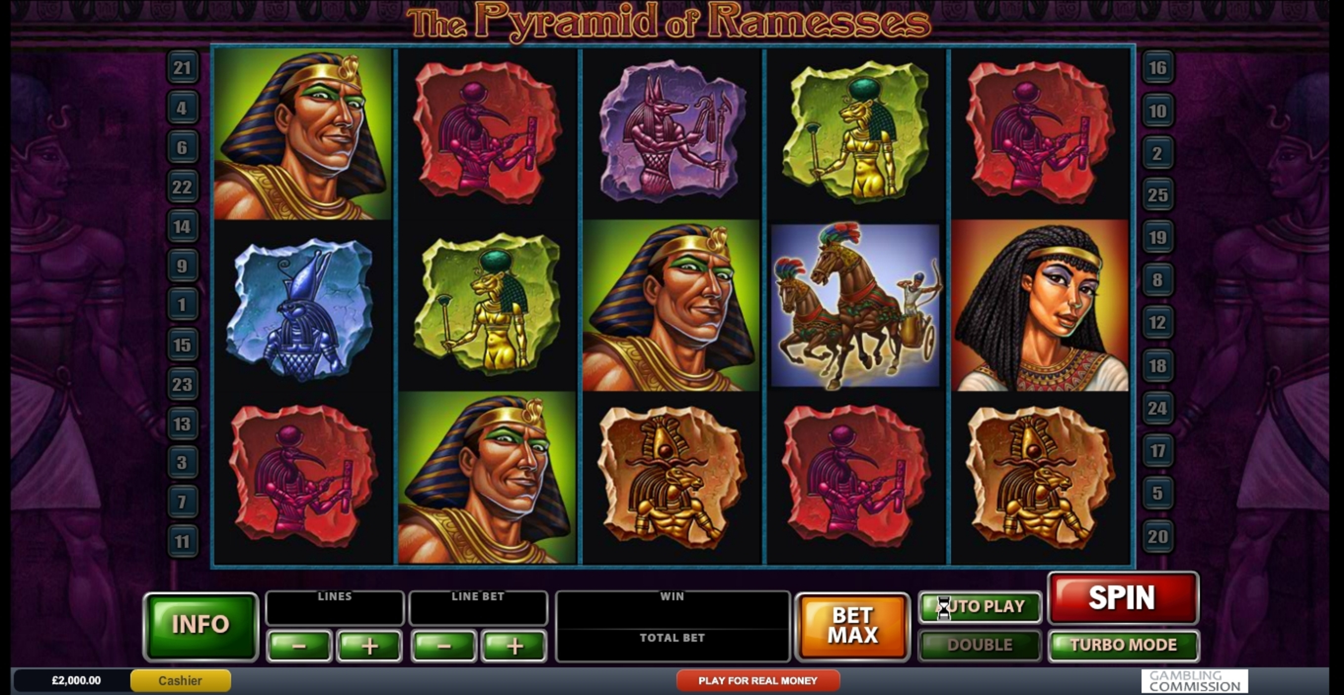 Reels in The Pyramid of Ramesses (Playtech) Slot Game by Playtech