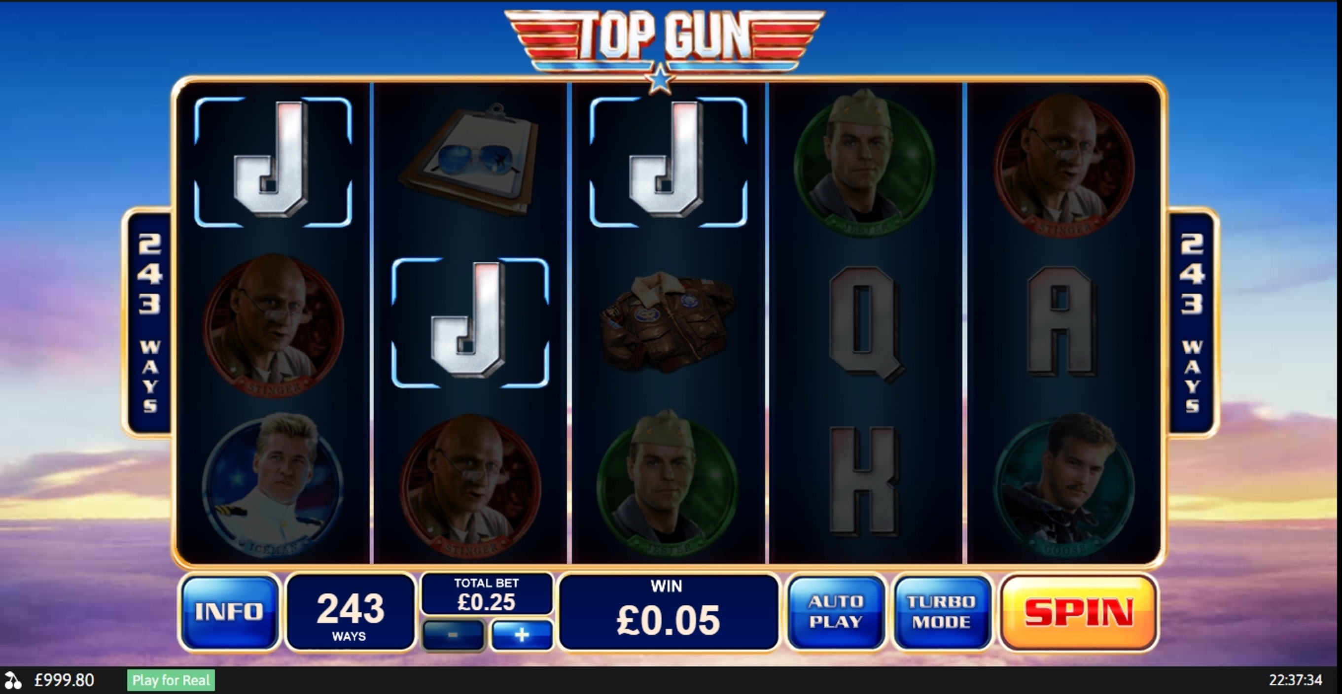 Win Money in Top Gun Free Slot Game by Playtech