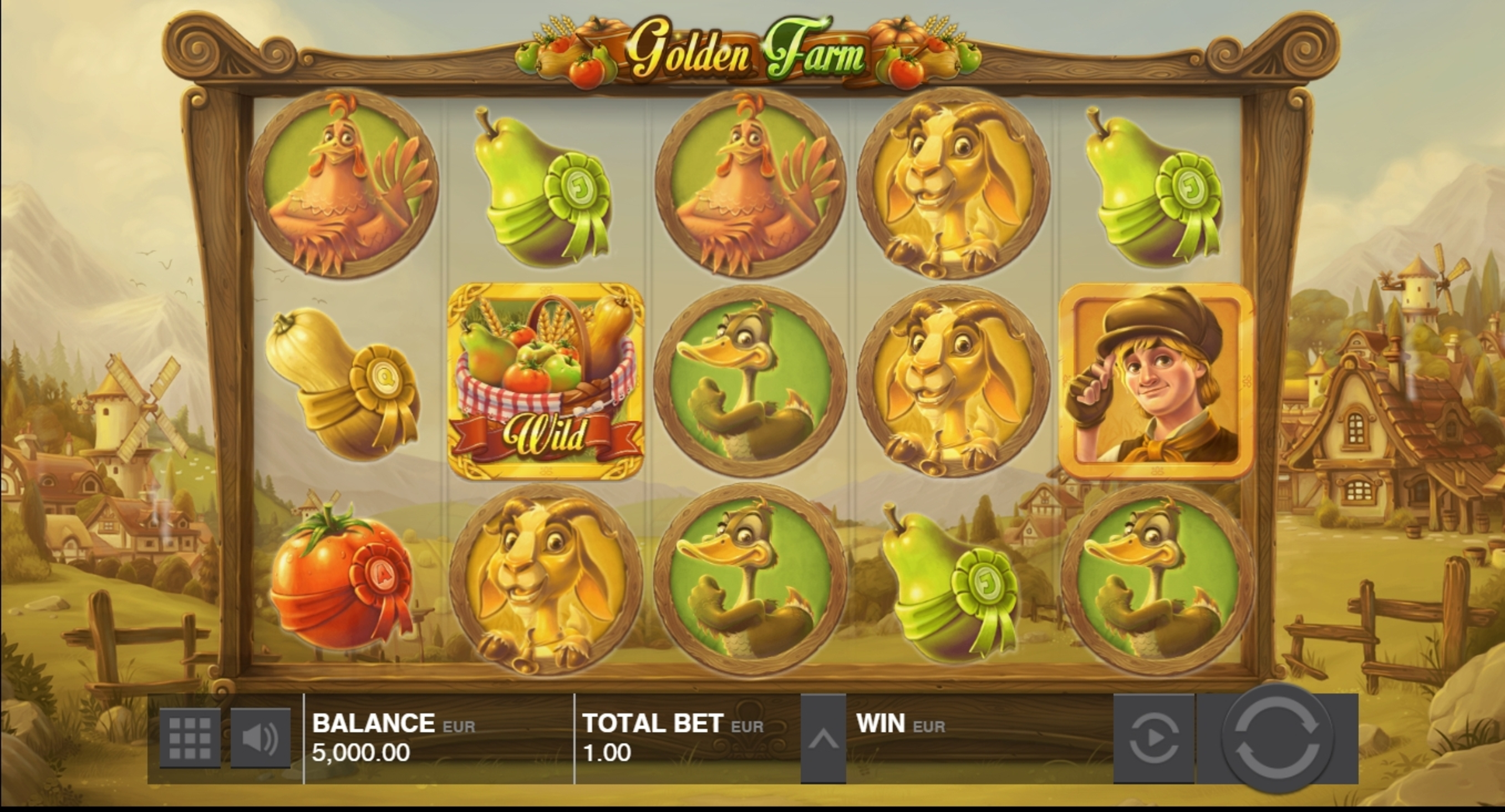 Reels in Golden Farm Slot Game by Push Gaming