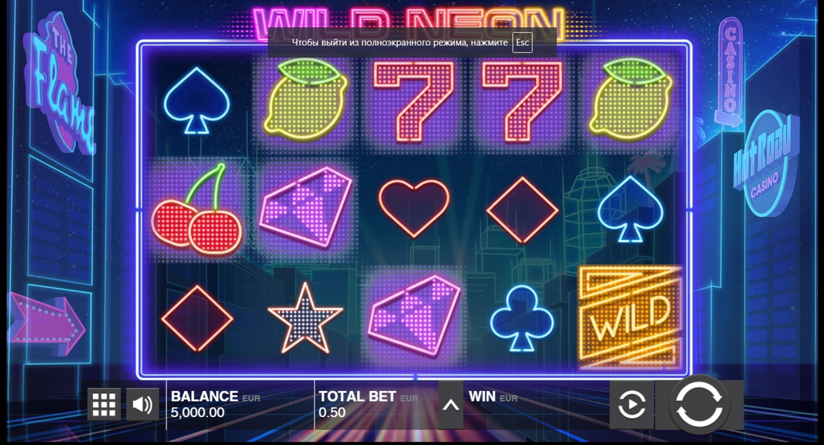 Reels in Wild Neon Slot Game by Push Gaming