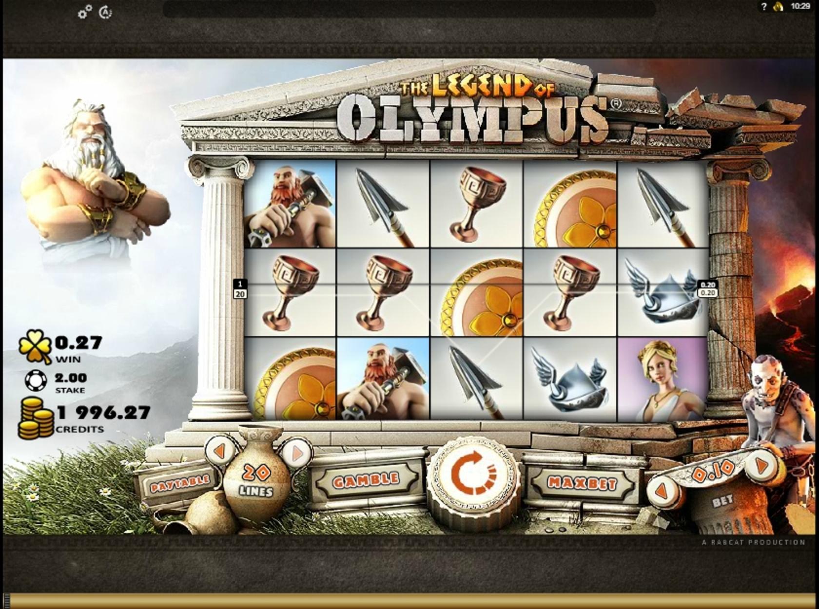 The Legend Of Olympus Slot Machine