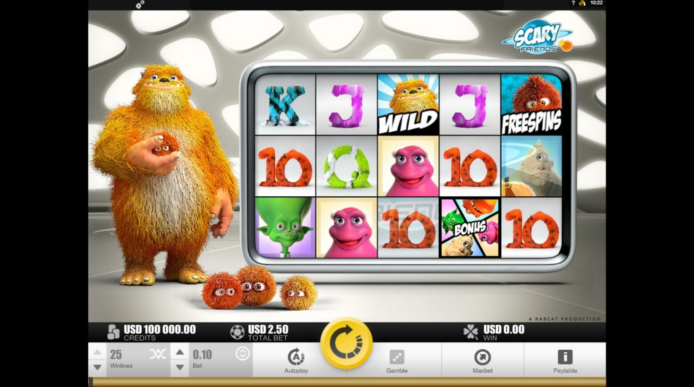 Reels in Scary Friends Slot Game by Rabcat