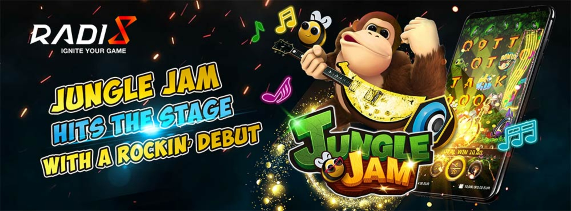Jungle Jam Online Slot Demo Game by Radi8 Games