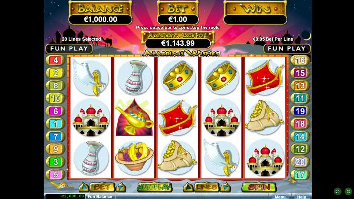 Play Aladdins Wishes Slot Machine Free With No Download