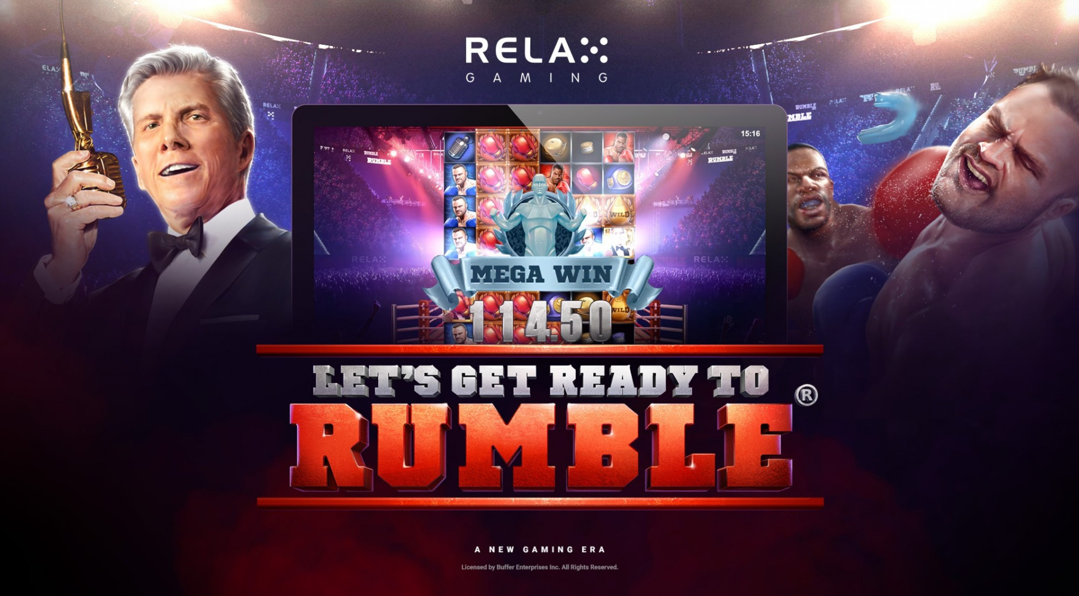 The Let's Get Ready to Rumble Online Slot Demo Game by Relax Gaming