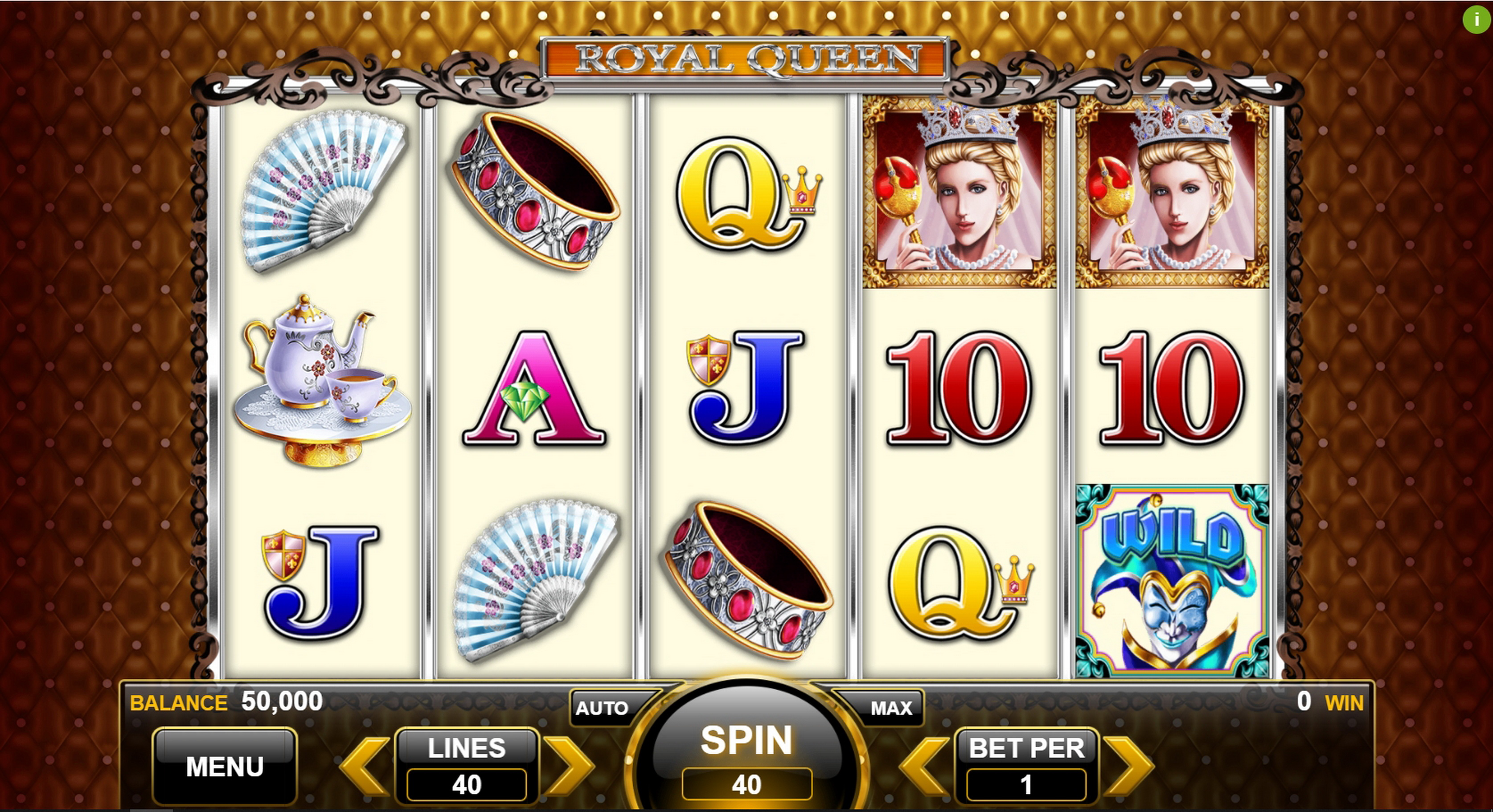 Reels in Royal Queen Slot Game by Spin Games
