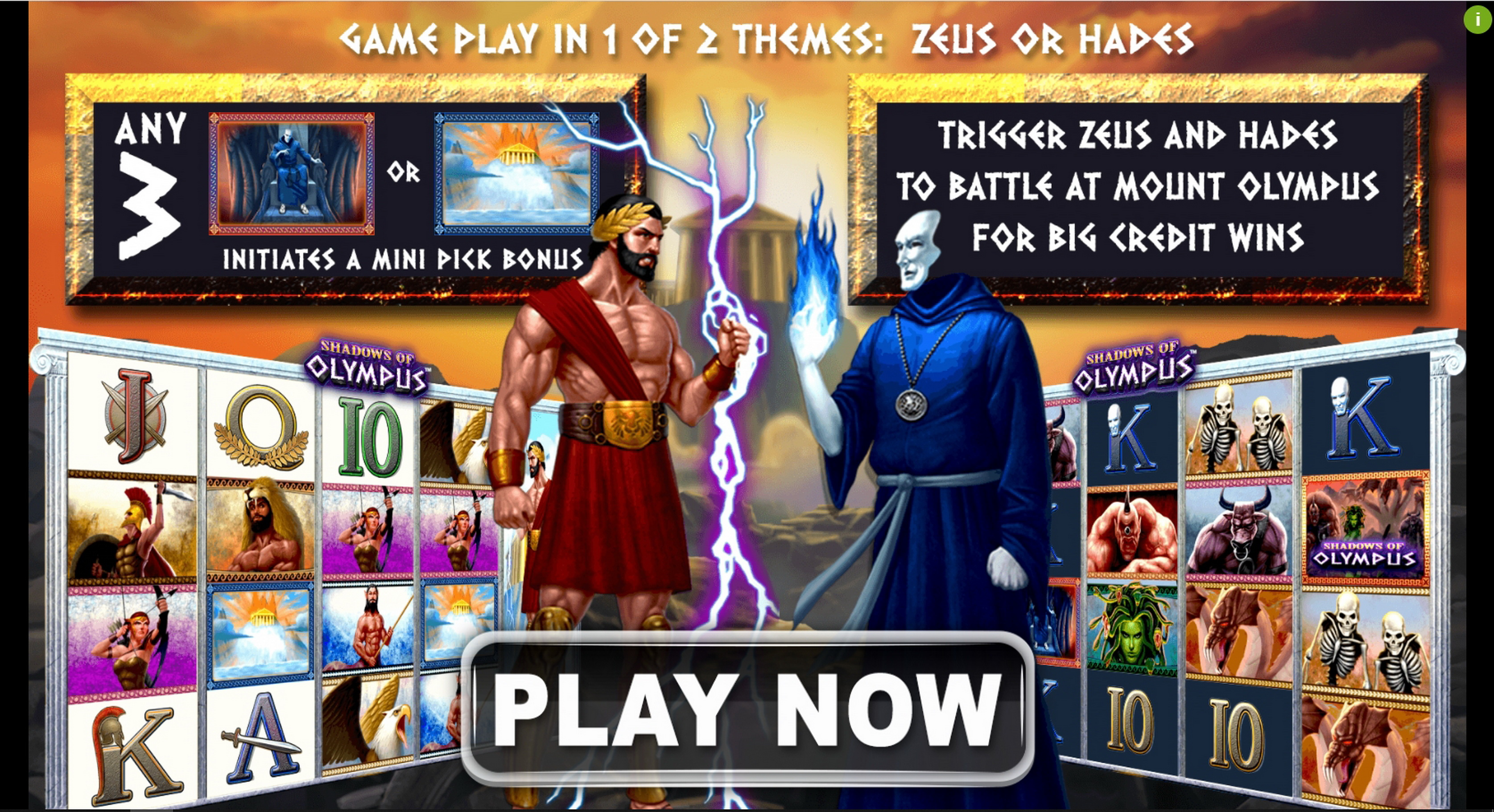 Play Shadows of Olympus Free Casino Slot Game by Spin Games