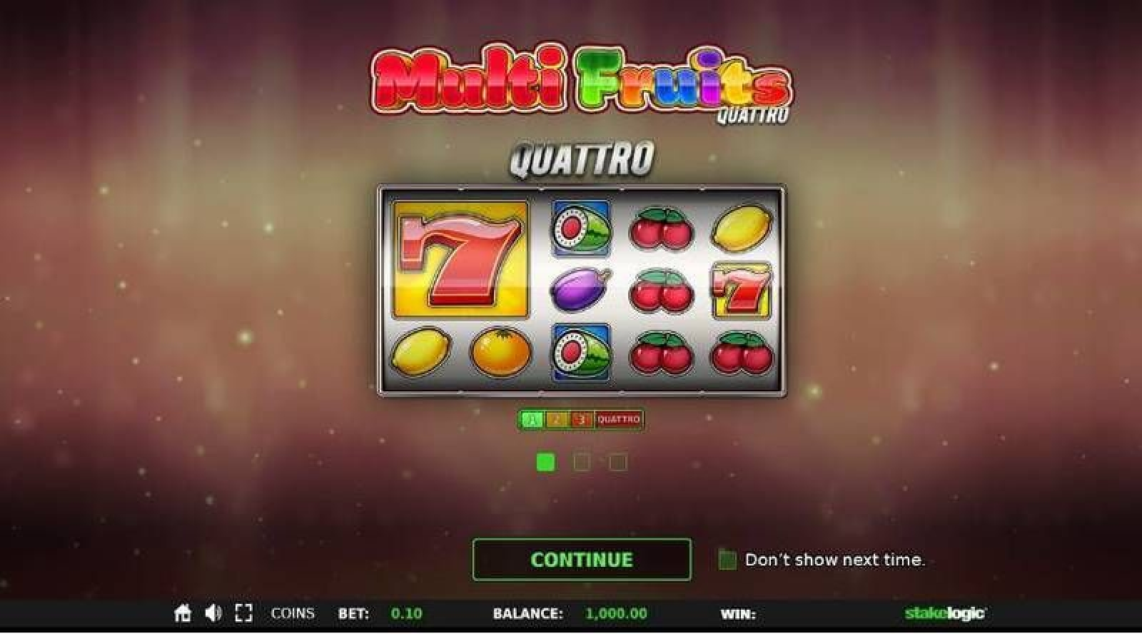Multi Fruits Quattro Online Slot Demo Game by Stakelogic