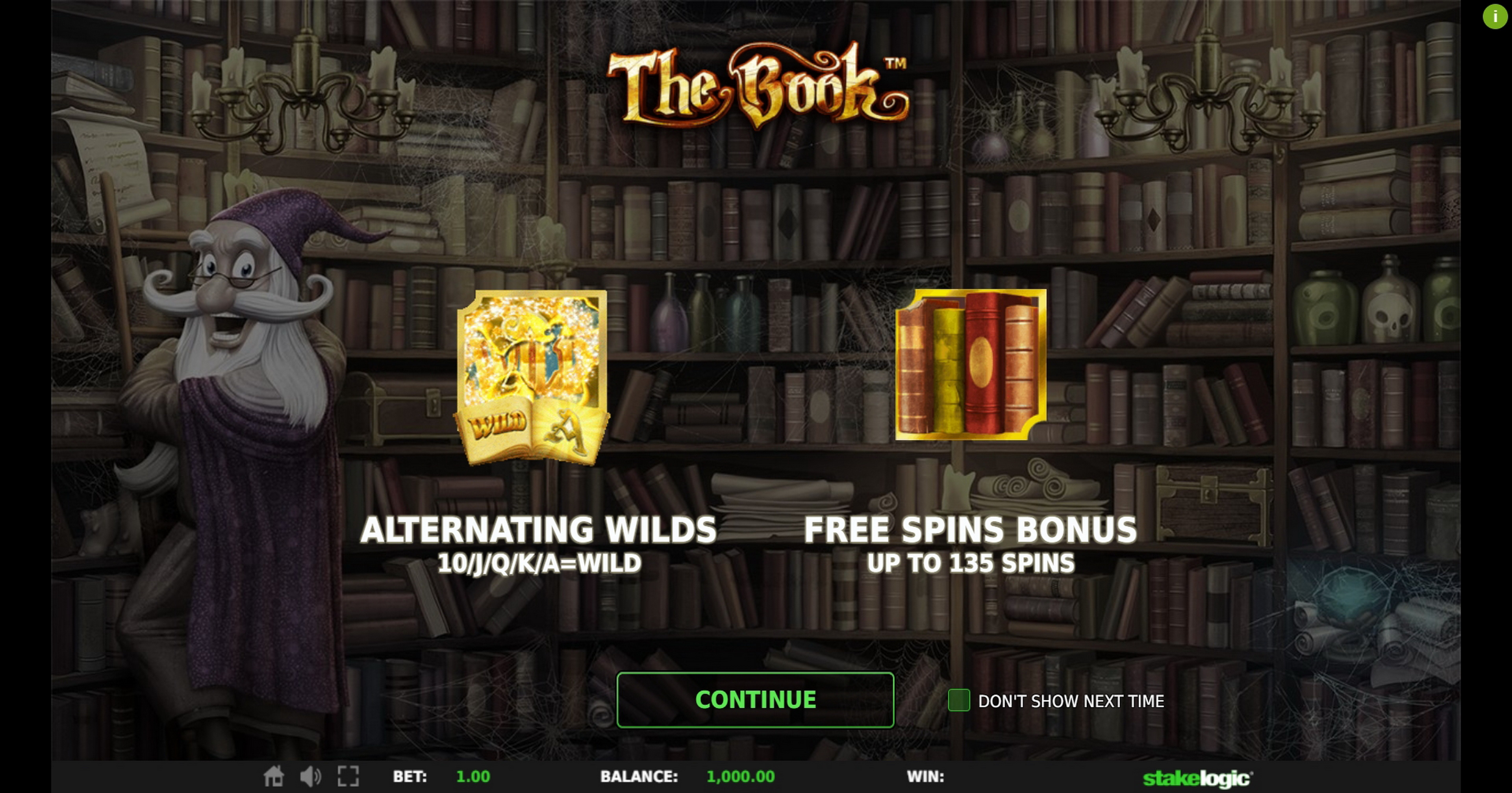 Play The Book Free Casino Slot Game by Stakelogic