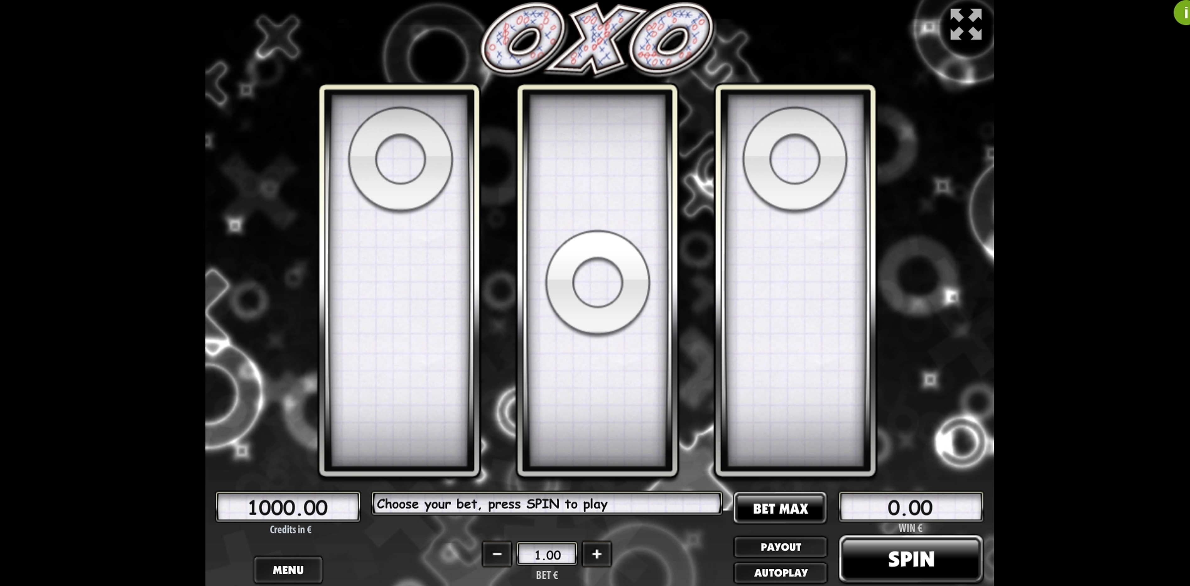 Reels in Oxo Slot Game by Tom Horn Gaming