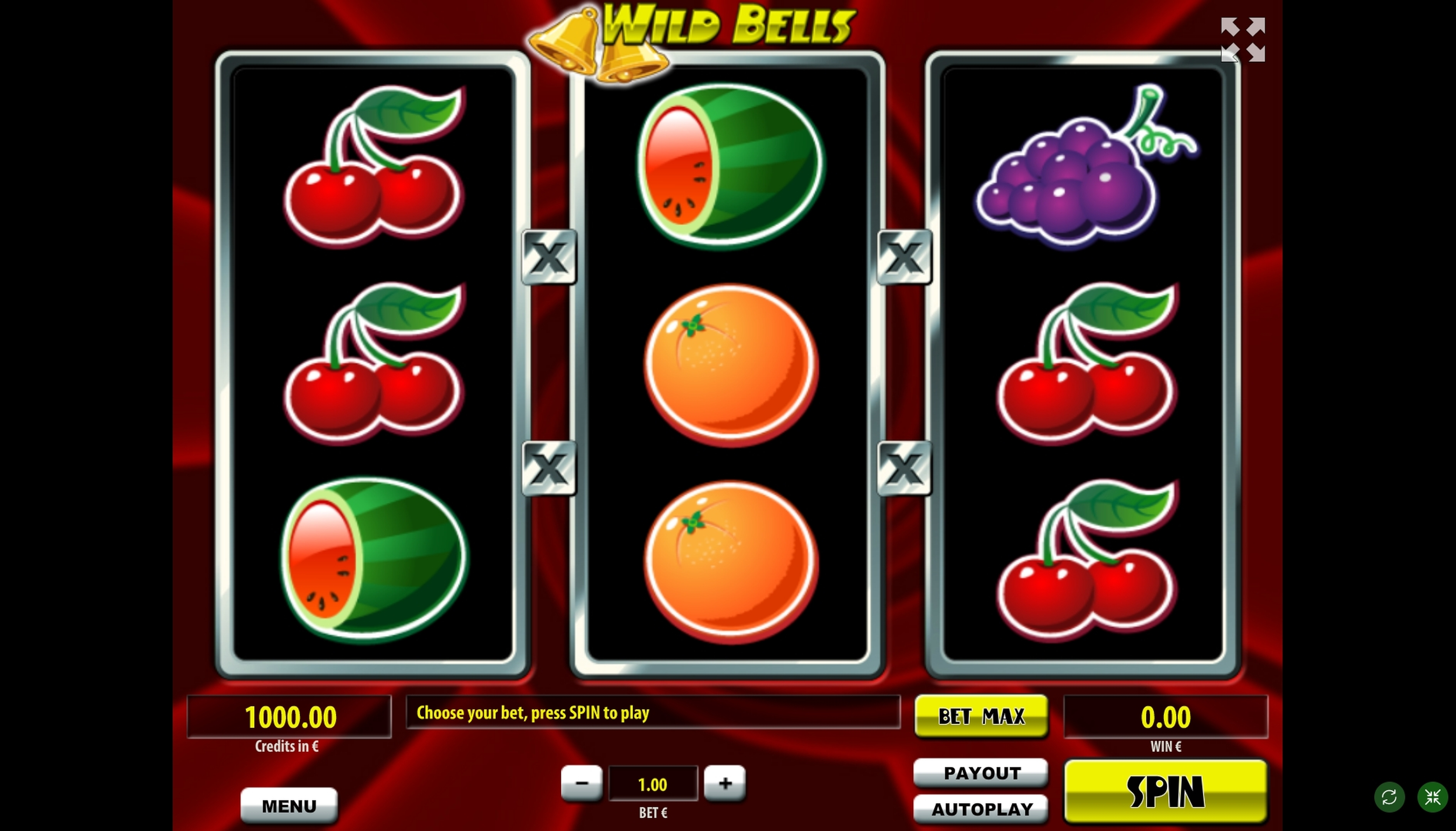 Reels in Wild Bells Slot Game by Tom Horn Gaming