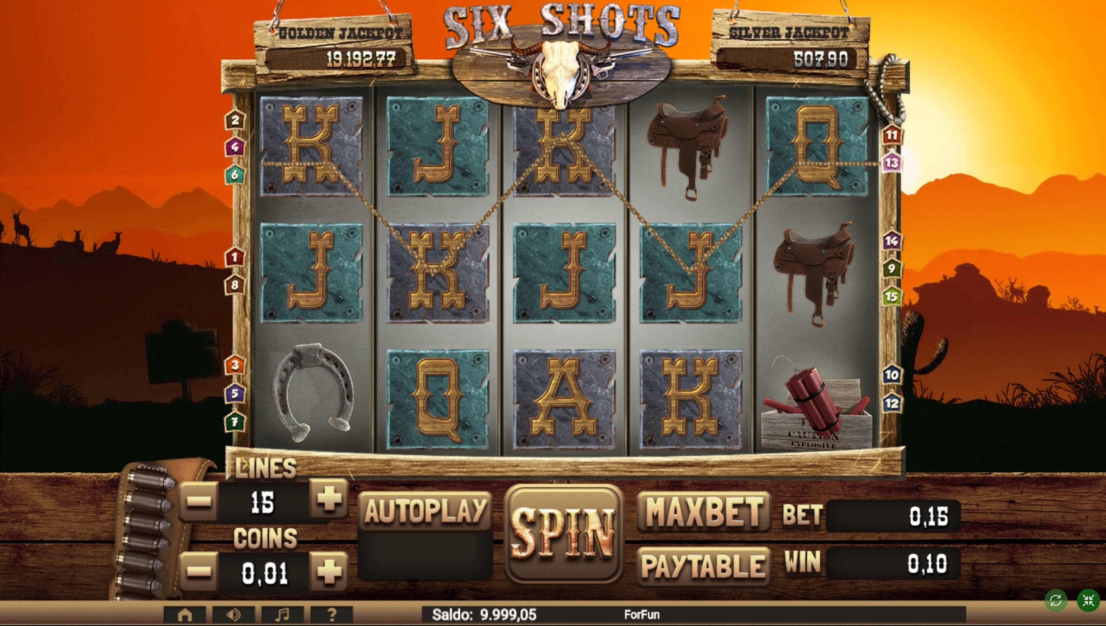 Win Money in Six Shots Free Slot Game by Tuko Productions