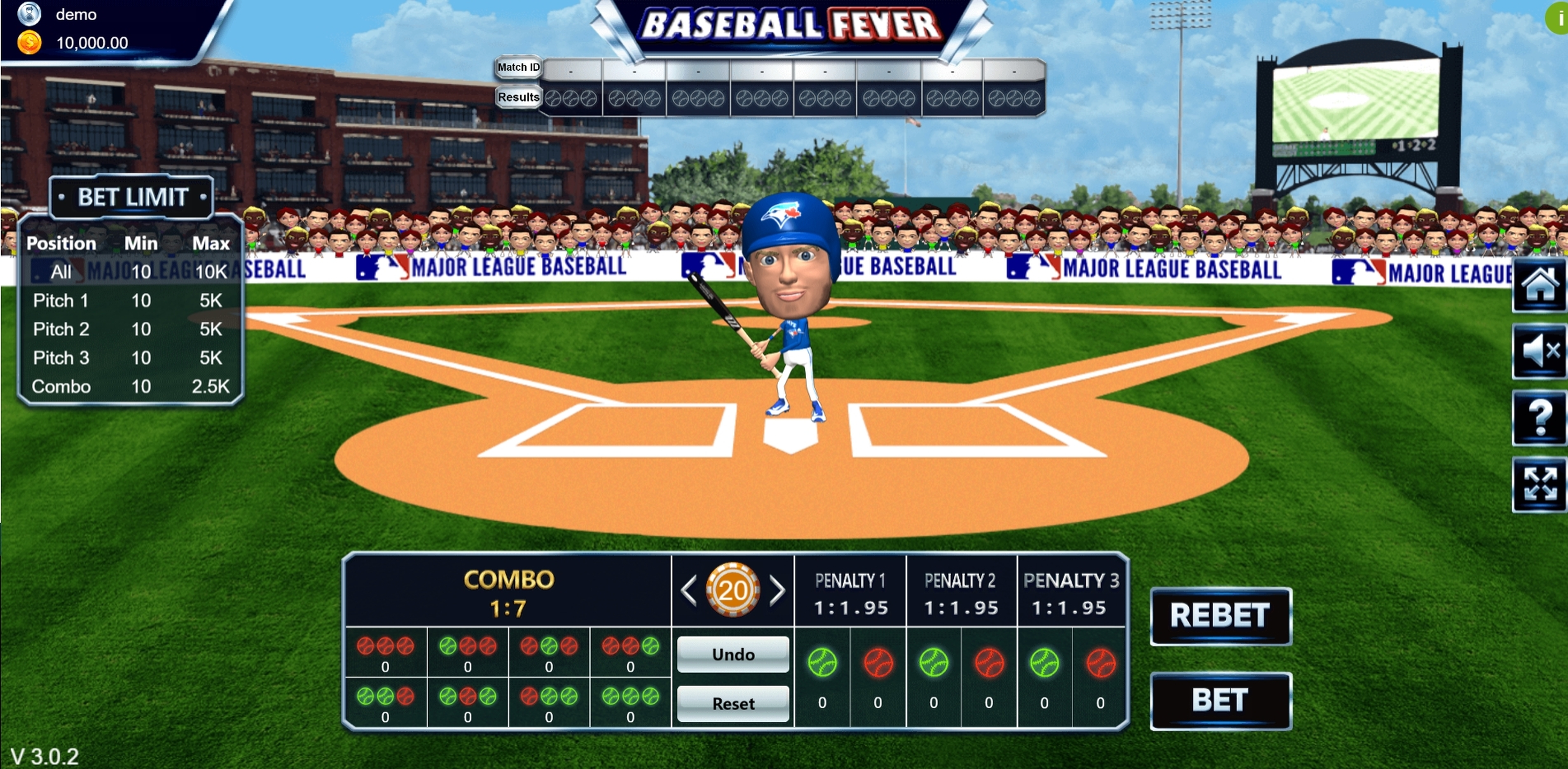 Reels in Baseball Fever Slot Game by Vela Gaming