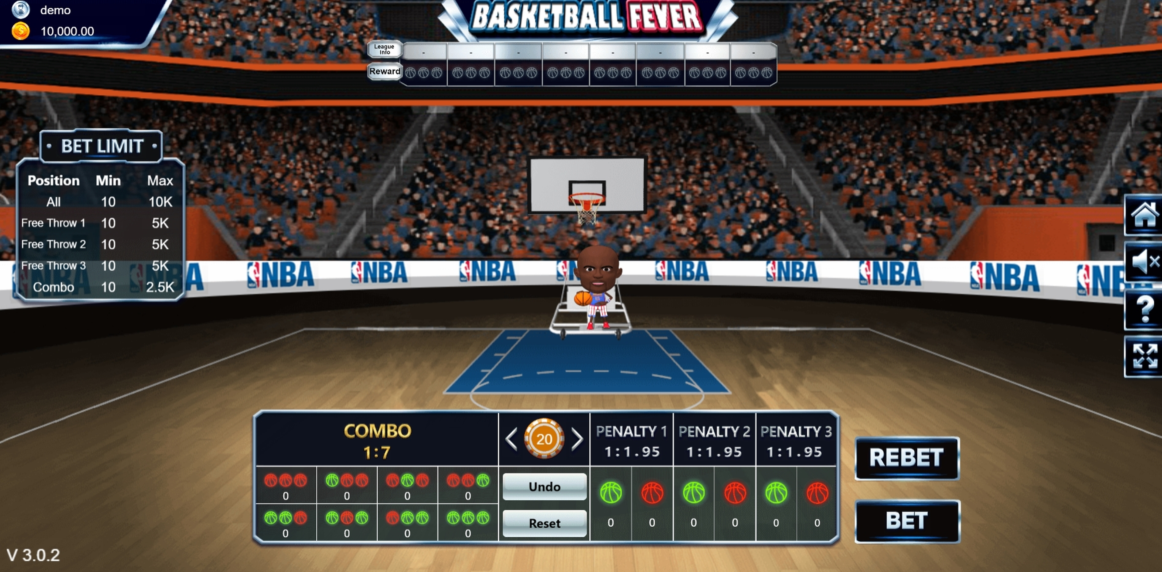 Reels in Basketball Fever Slot Game by Vela Gaming