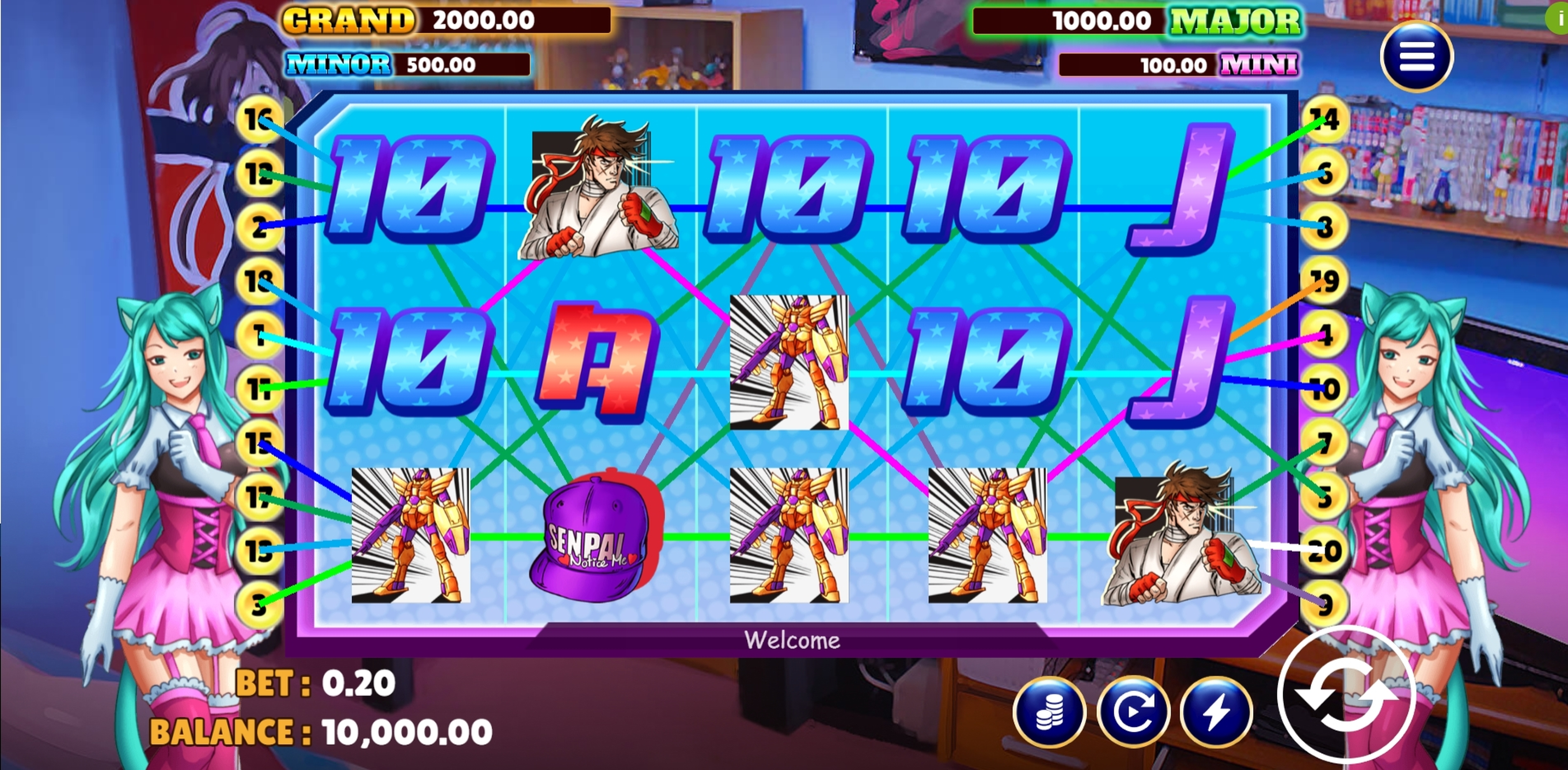 Reels in Otaku's Heaven Slot Game by Vela Gaming