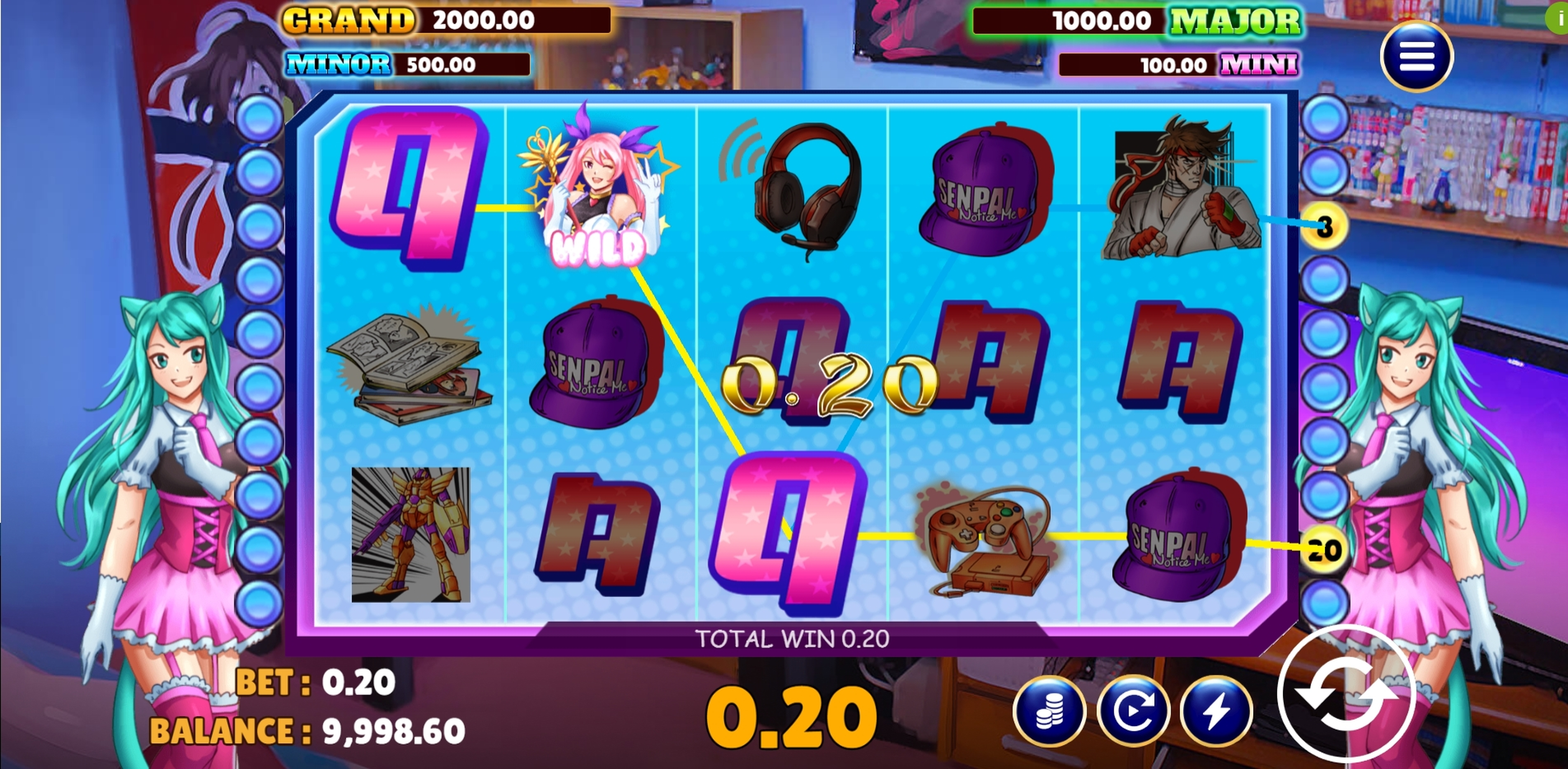 Win Money in Otaku's Heaven Free Slot Game by Vela Gaming