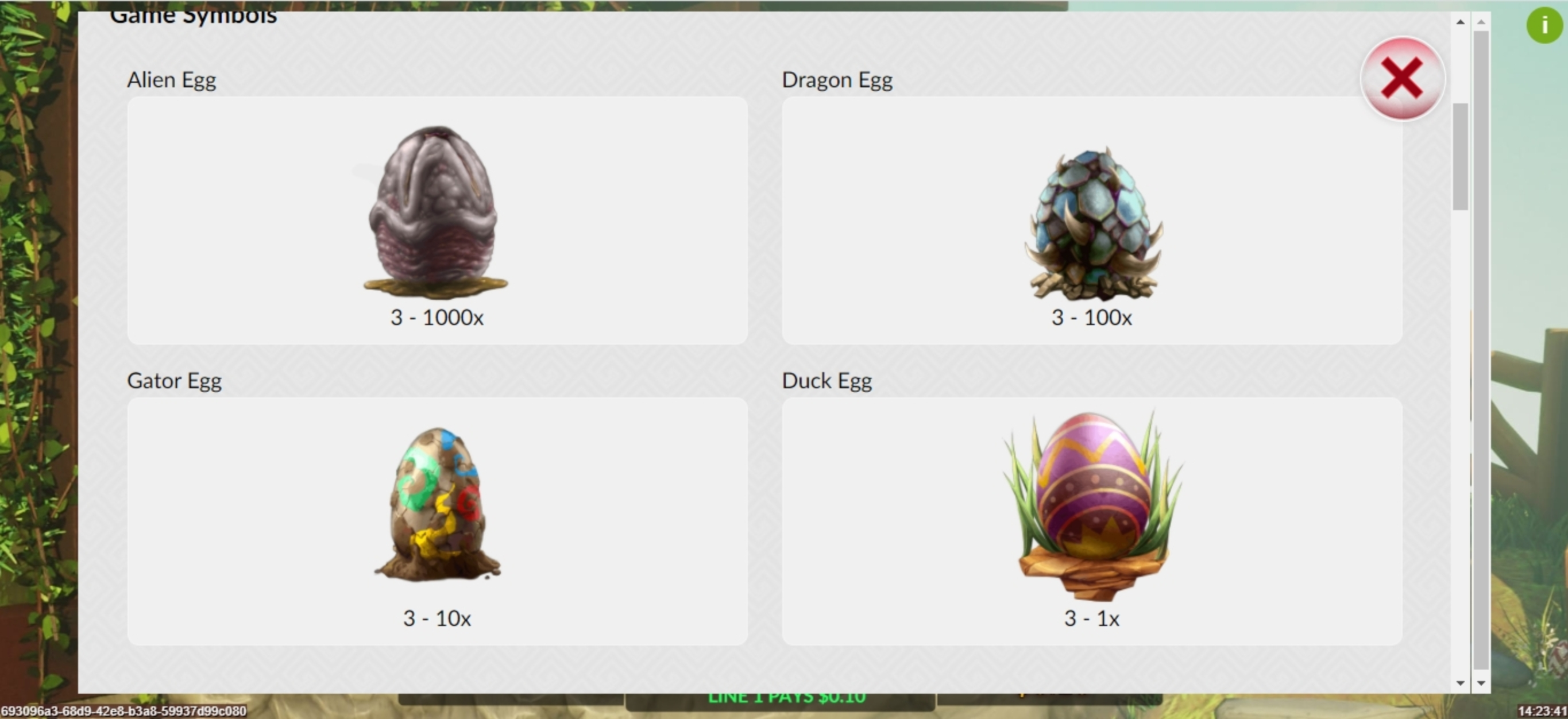 Info of Crazy Easter Eggs Slot Game by Maverick