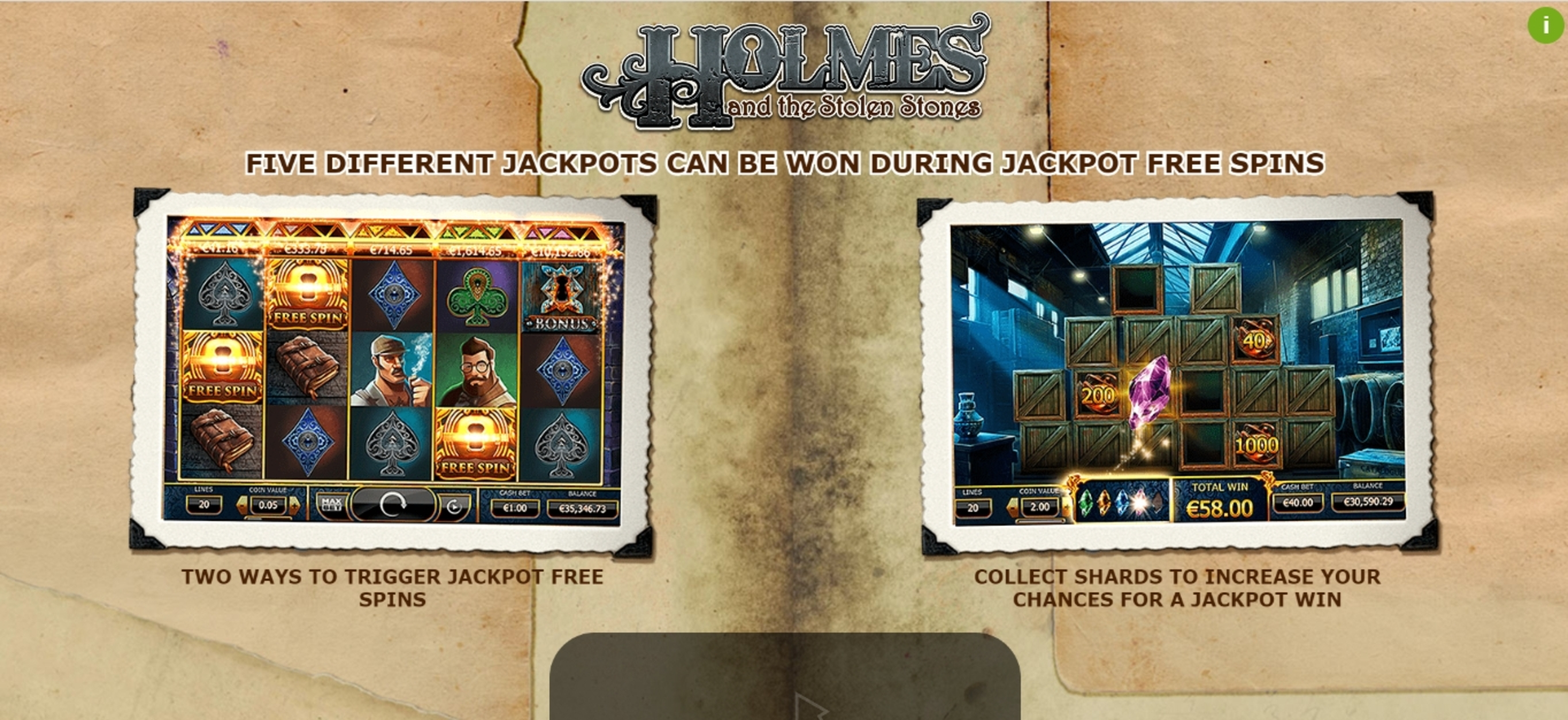 Play Holmes and the Stolen Stones Free Casino Slot Game by Yggdrasil