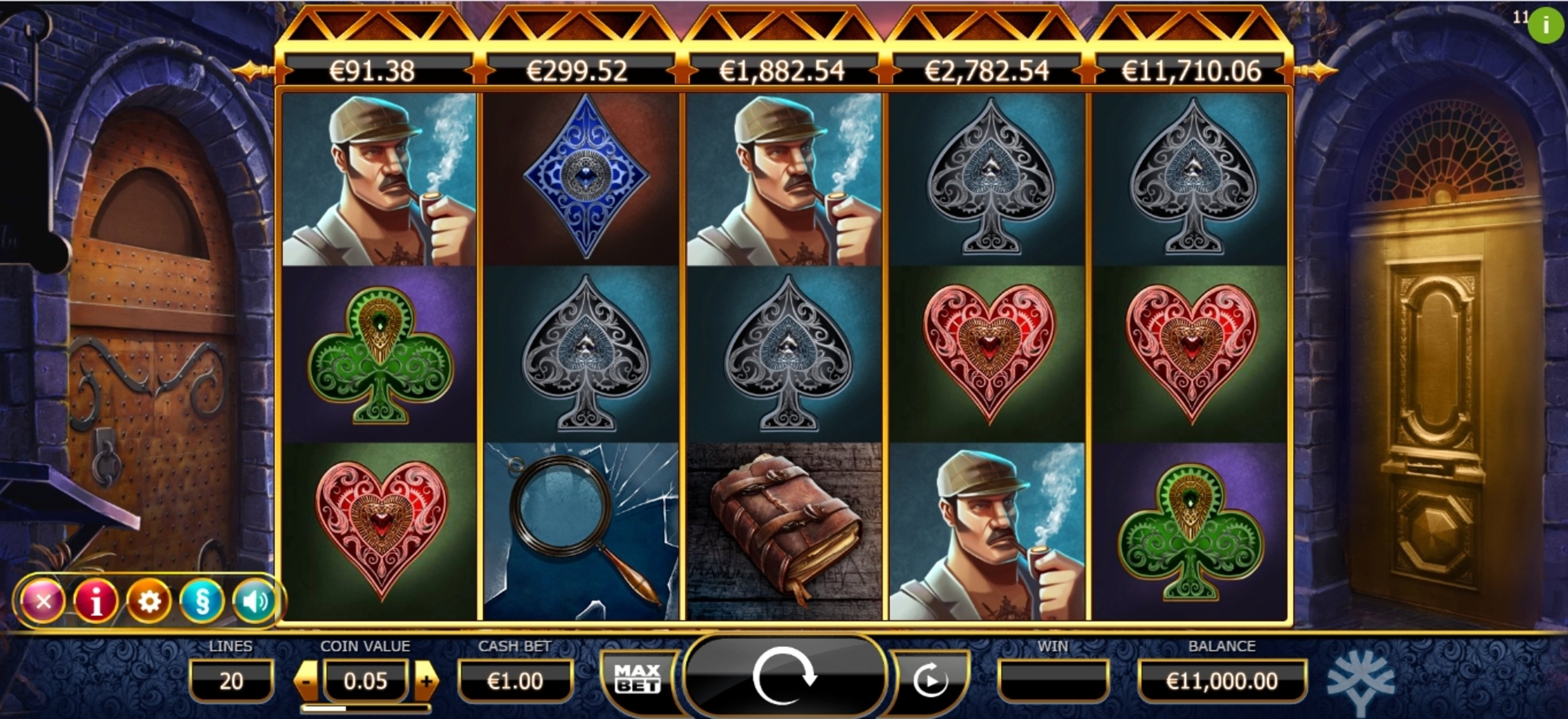 Reels in Holmes and the Stolen Stones Slot Game by Yggdrasil