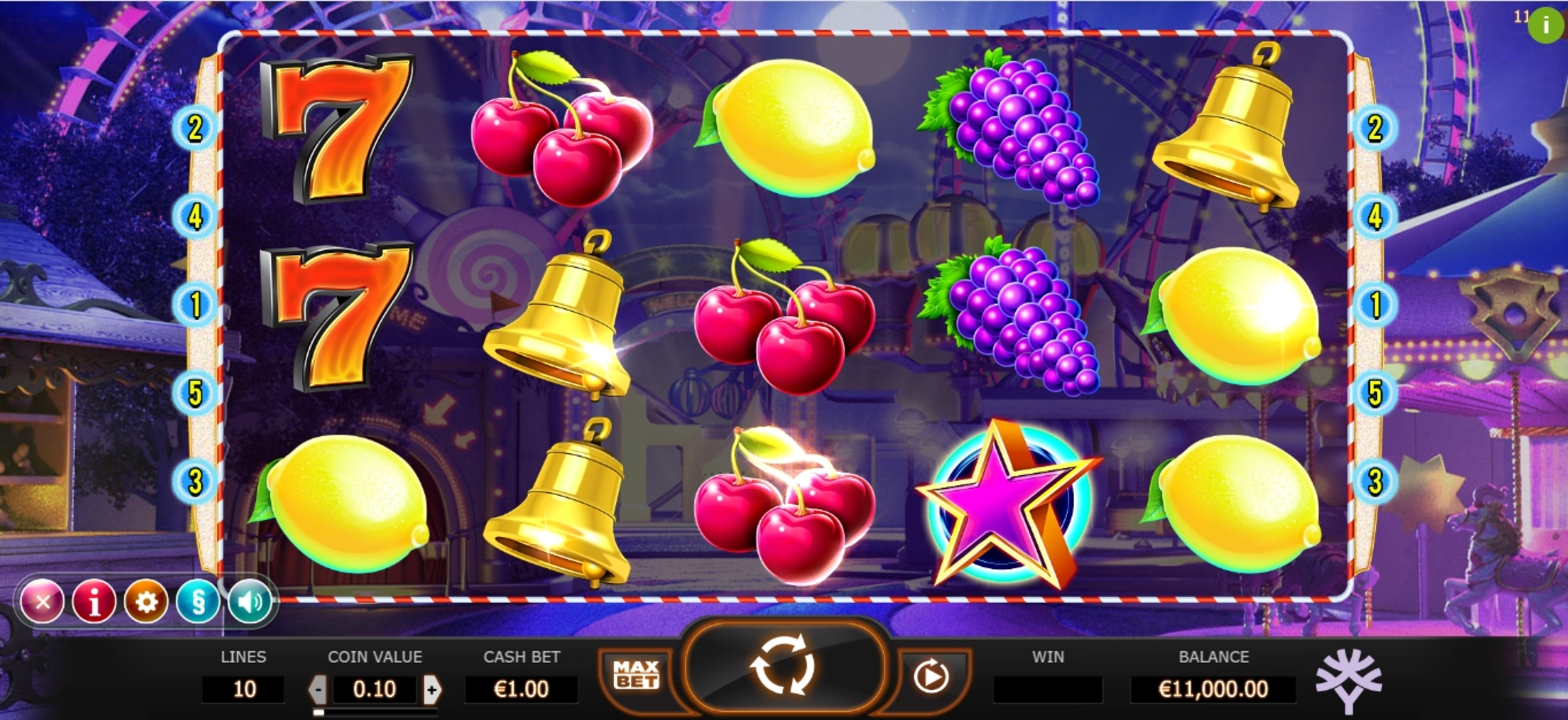 Reels in Jokerizer Slot Game by Yggdrasil