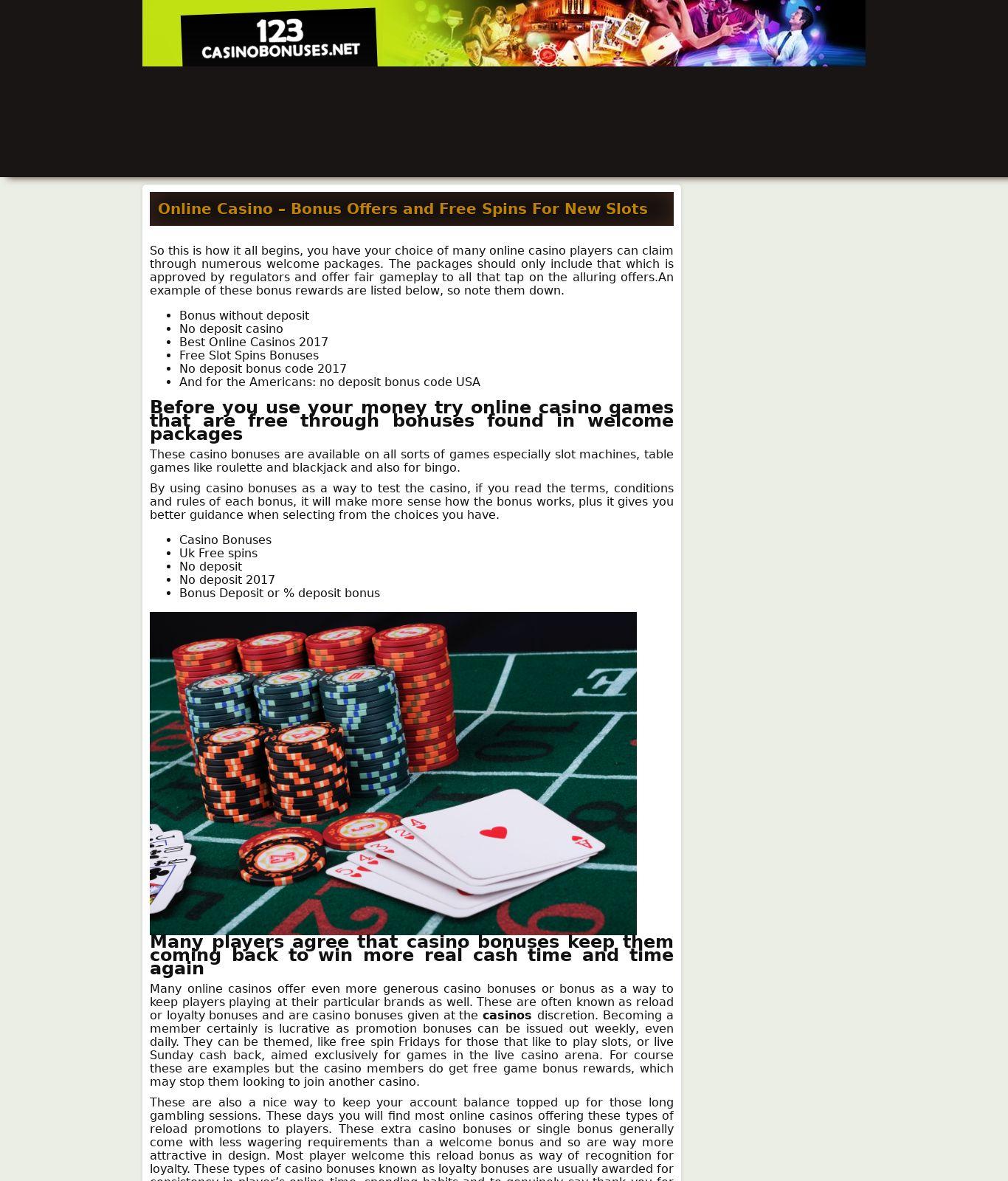 123 Casino Bonuses Review Scam Report 123casinobonuses Net May