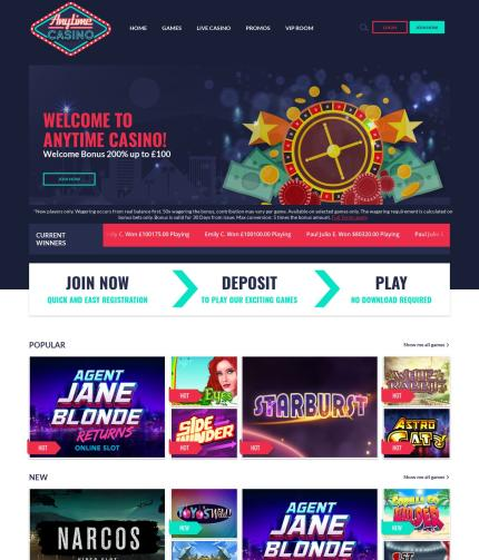 Anytimecasino.co.uk Screenshot