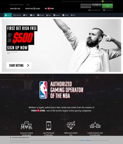 Betstars.com Screenshot