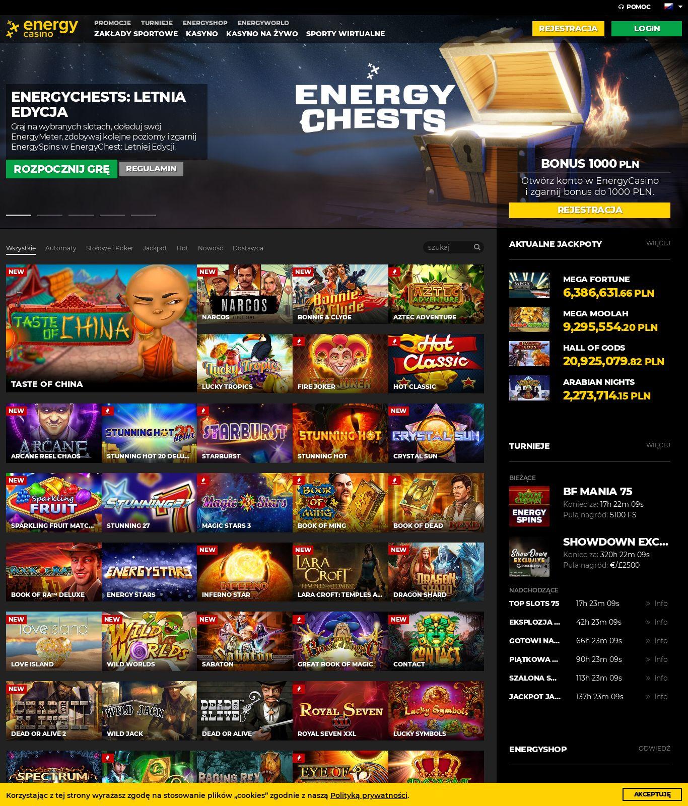 casino energy online