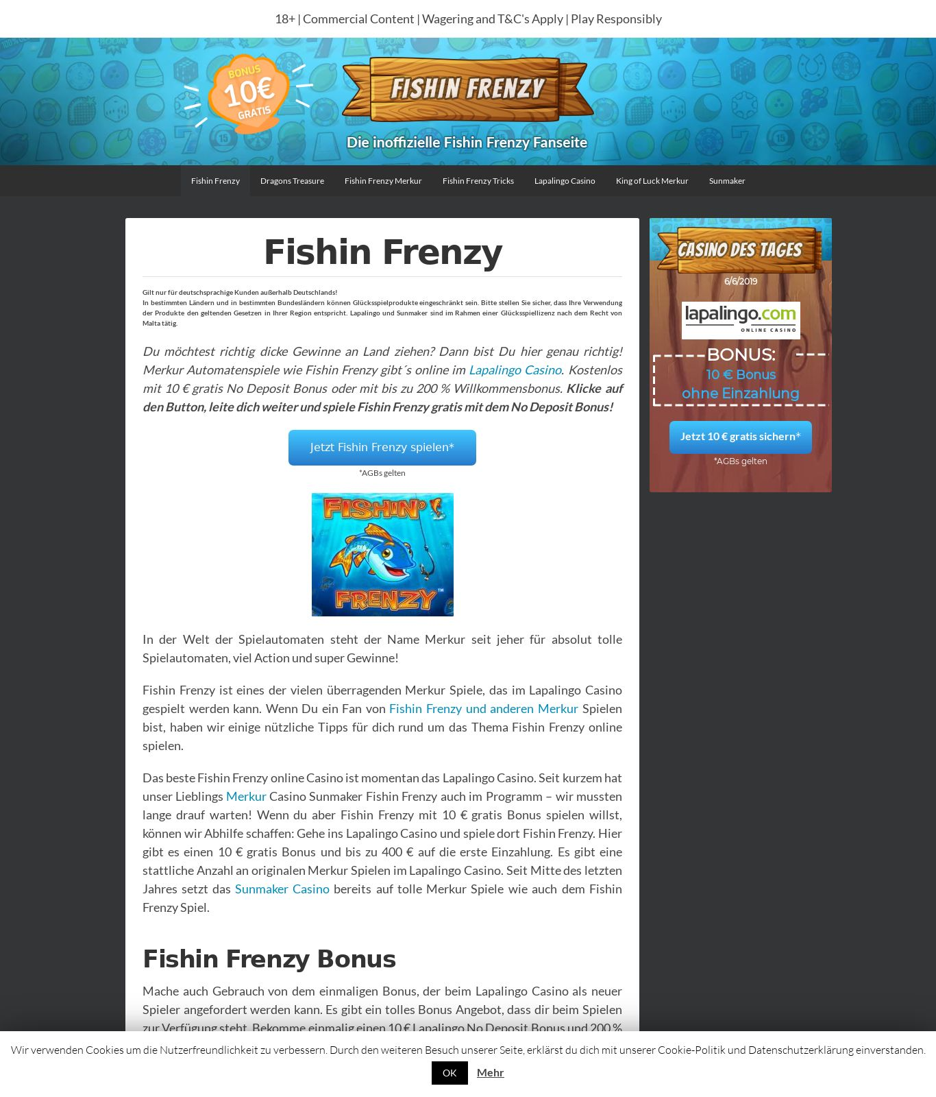 Fish In Frenzy Casino Review Scam Report Fishinfrenzy Net Jun