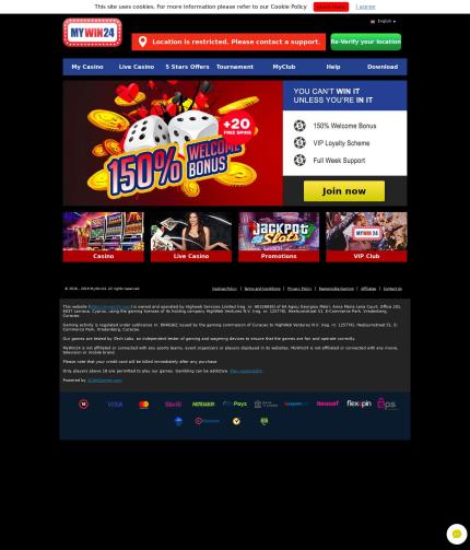 Mywin 24 Mywin24 Com Casino Review Scam Report By July 24