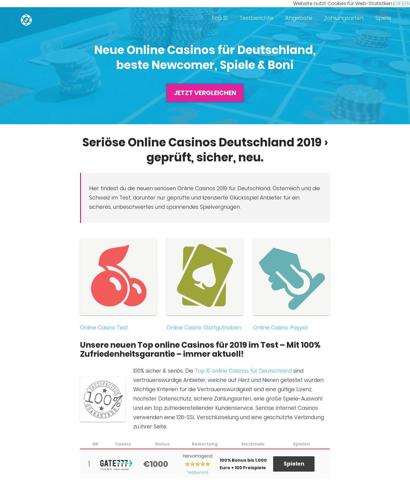 Online Casino 25 Euro Startguthaben