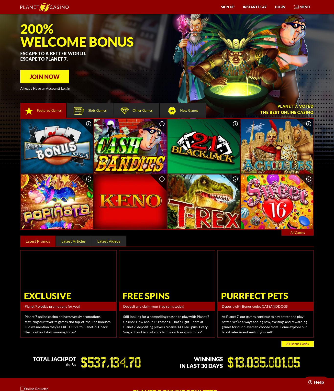 Planet 7 Casino Mobile App