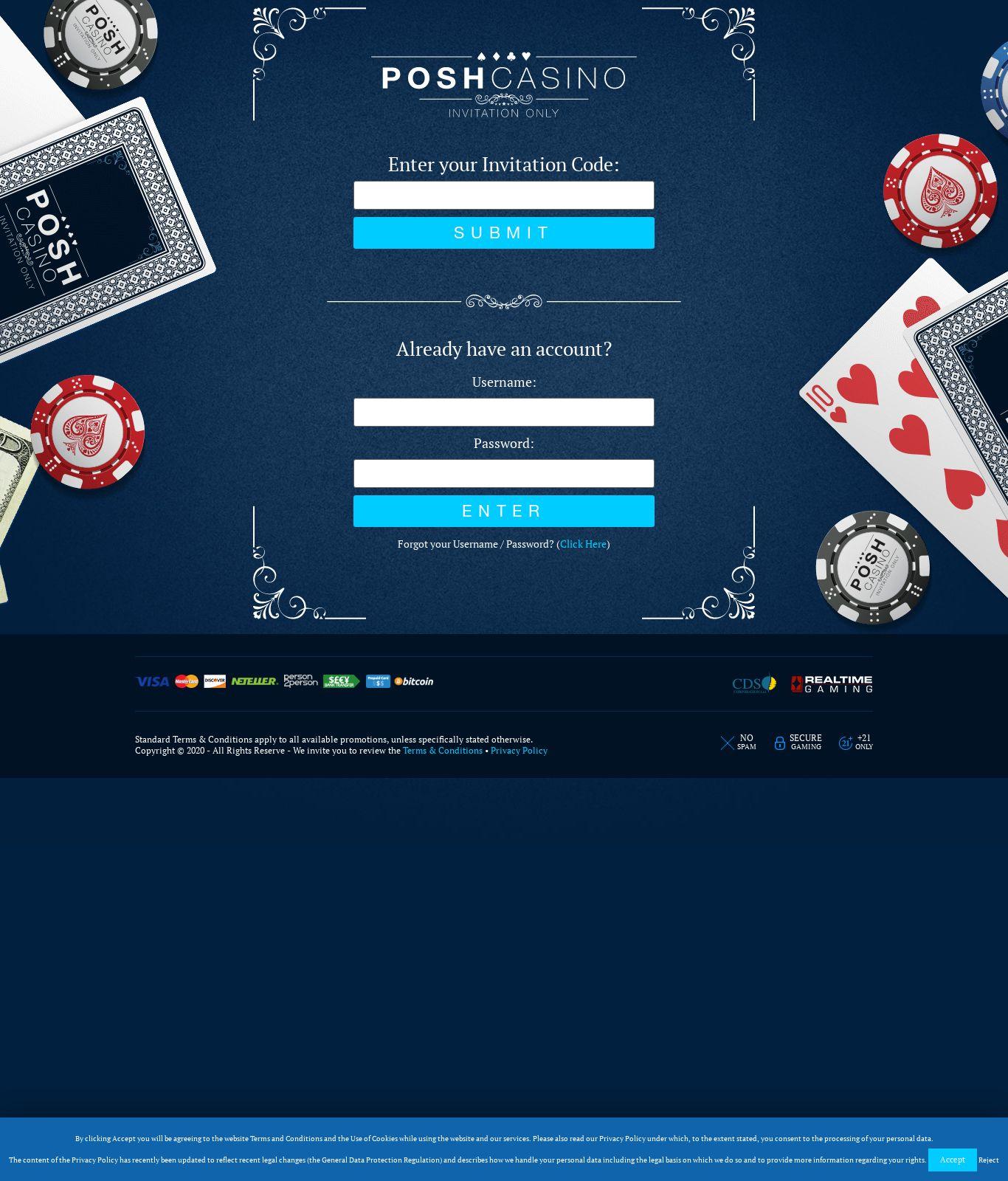 Posh Casino No Deposit Bonus