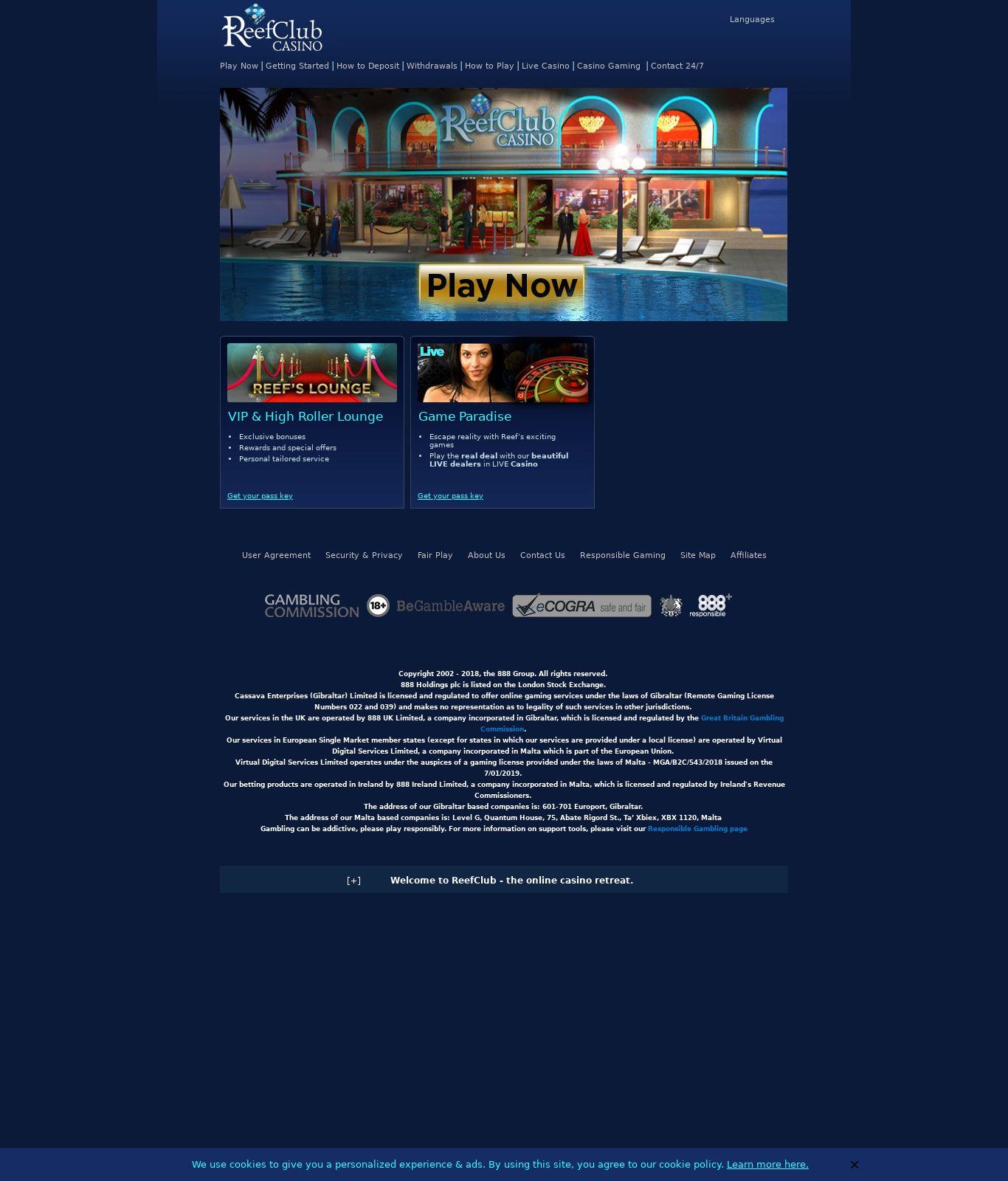 Reef Club Casino Review