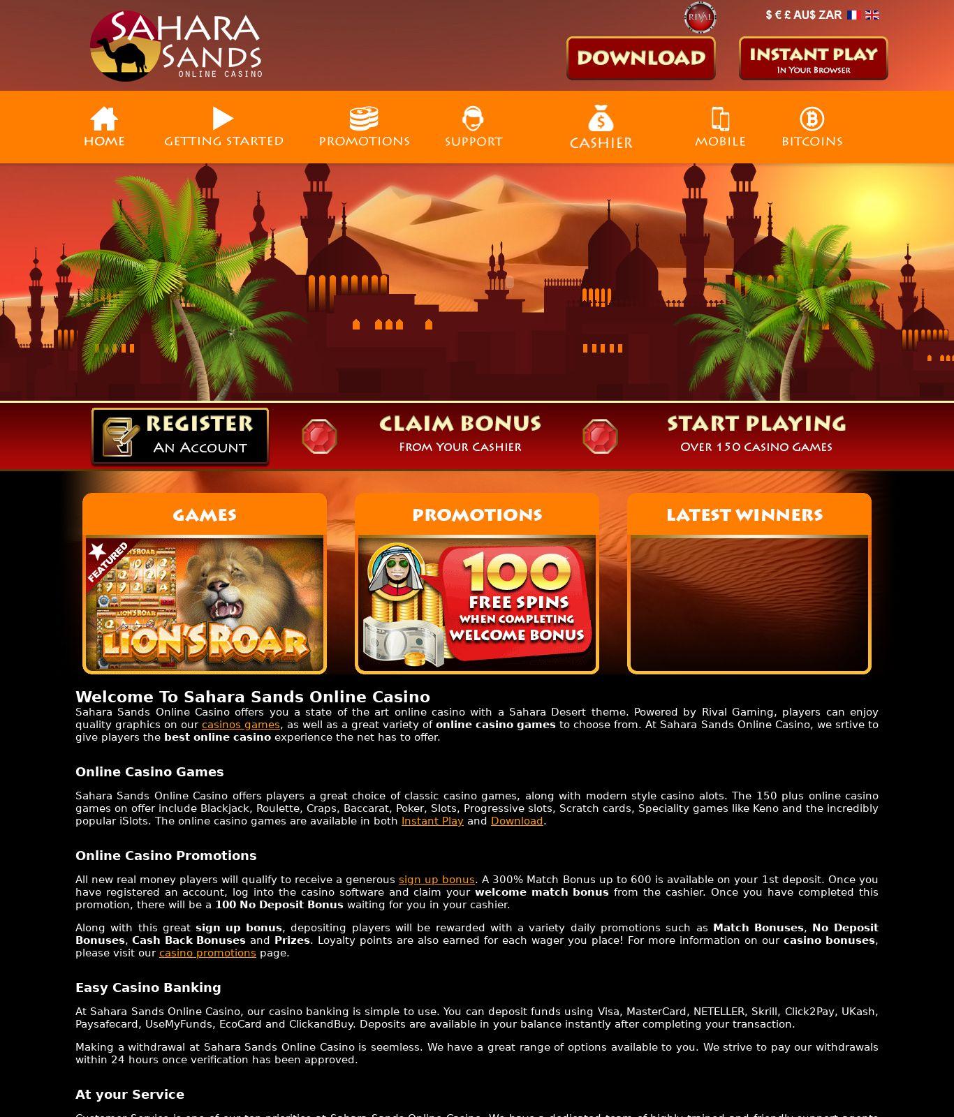 Sands Casino Free Play