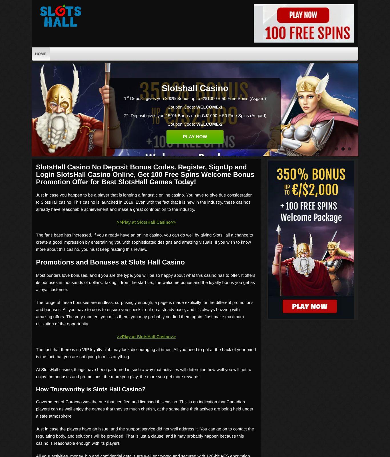 Slotshall Casino No Deposit Bonus Codes