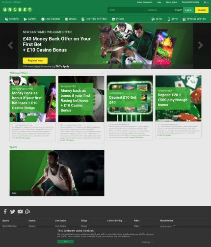 Unibet.co.uk Screenshot