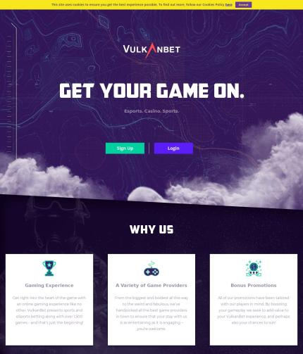 Vulkanbet.com Screenshot