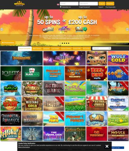 Windfallcasino.co.uk Screenshot