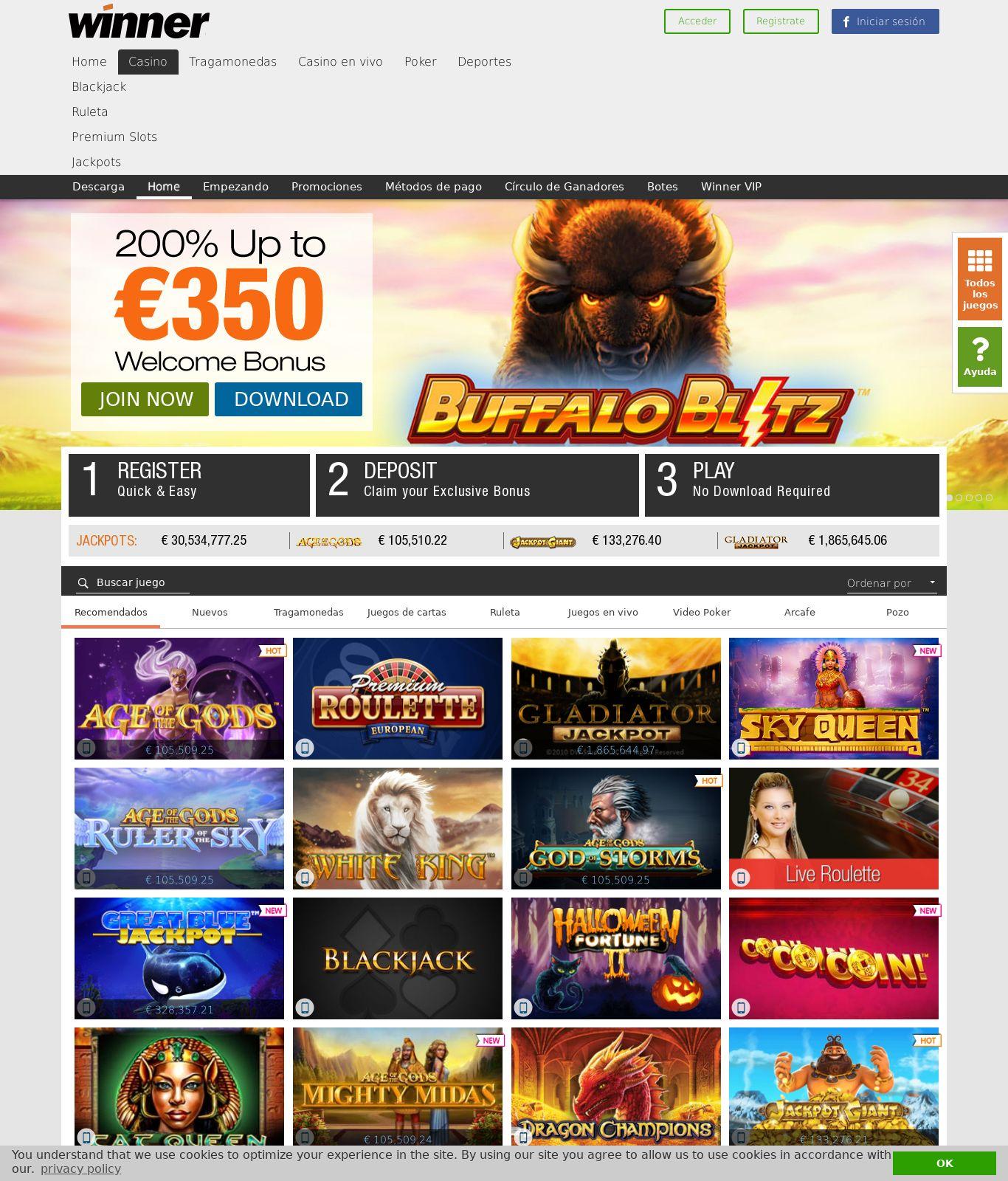 BetVictor online casino bonus